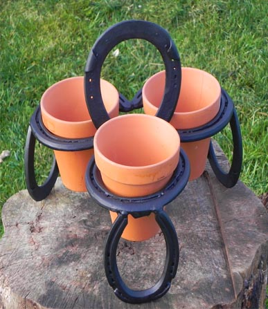 Horseshoe gifts wine racks hanging baskets horsey for Horseshoe crafts for sale